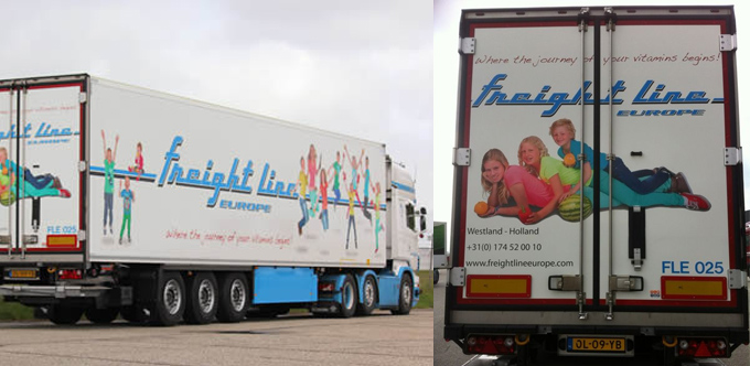 Freightline vrachtwagen